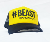 #BEAST yellow   Trapper Trucker Hat (UNISEX )