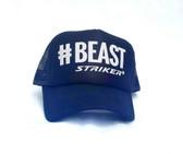 #BEAST Black Silver Letters   Trapper Trucker Hat (UNISEX )