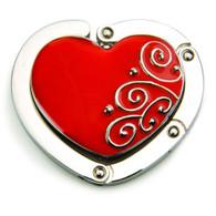 """""""Ruby Red Heart"""" Bag Hanger"""