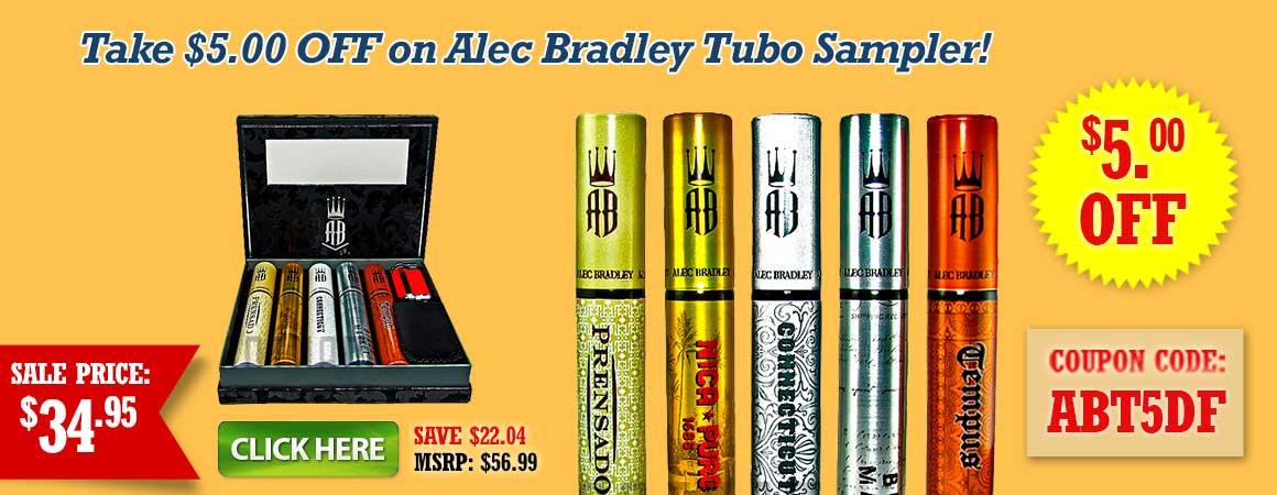 Take $5.00 OFF on Alec Bradley Tubo Sampler!