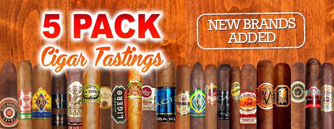 5 Pack Cigar Tastings