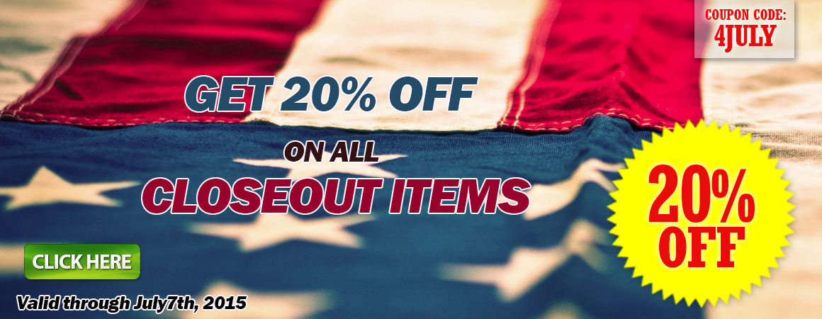 20% off closeout items