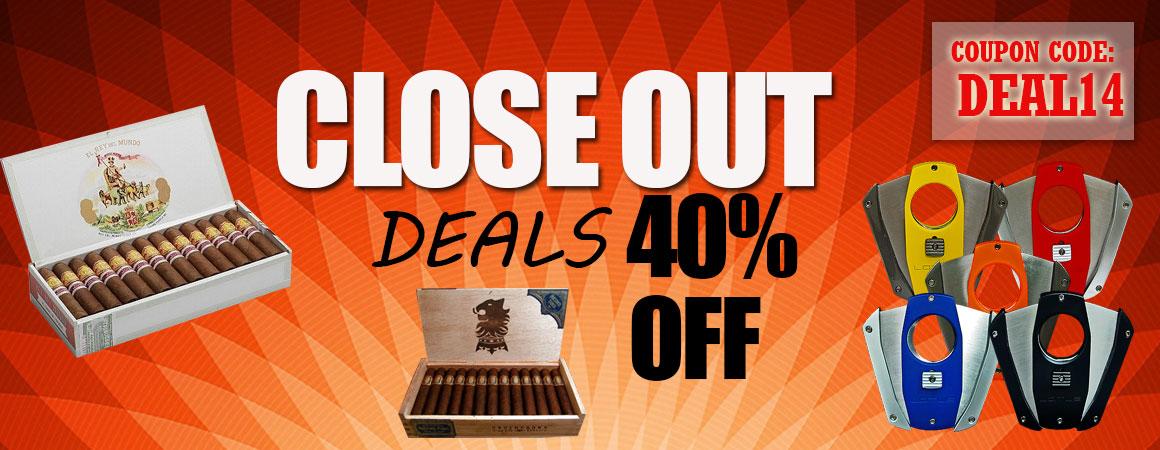 Close Out Deals 40% Off