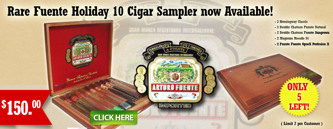 Rare Arturo Fuente Holiday 10 Cigar Sampler now Available!