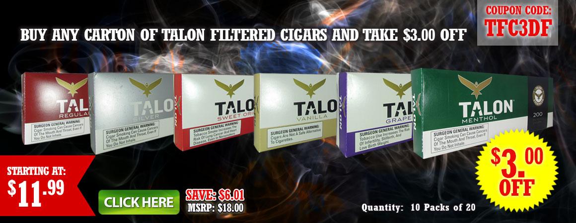 Talon filtered Cigars