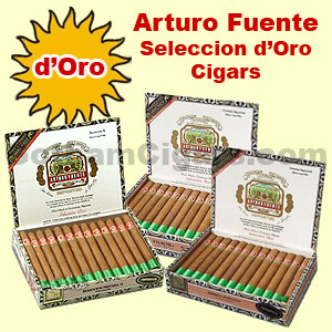 Buy Arturo Fuente Seleccion D'Oro Cigars at the lowest prices online at GothamCigars.com - Click here