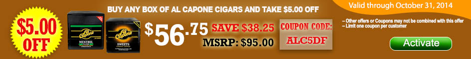 Get $5.00 OFF on Al Capone Cigars!
