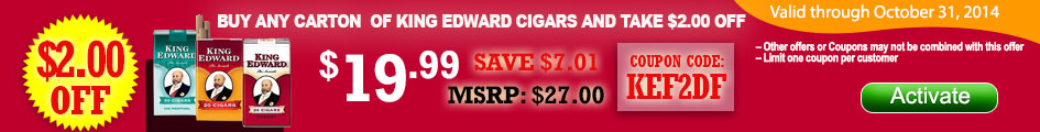 Buy a carton of King Edward Take $2.00 OFF