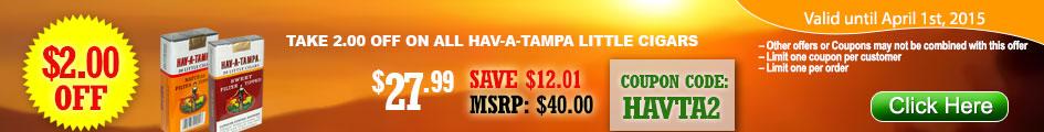 BUY HAV-A-TAMPA GET $2.00 OFF!