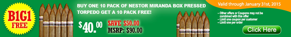 Buy Nestor Miranda 10 pack and get one for free!