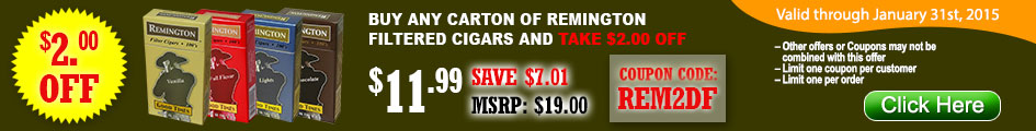 Take $2 OFF on all Remington Cigars at Gotham Cigars!