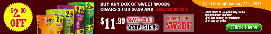 Take $2.00 OFF on Good Times Cigarillos Sweet Woods!