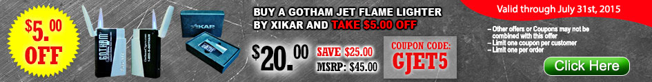 Buy a Gotham Jet Flame Lighter by Xikar and take $5.00 OFF