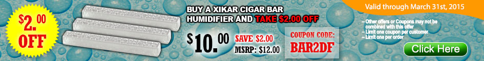 Buy a Xikar cigar bar humidifier an take $2.00 OFF