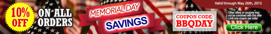 Memorial Day Savings Get 10% on all orders
