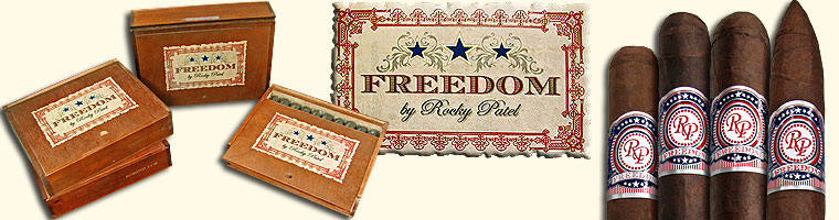 Buy Rocky Patel Freedom Cigars at the lowest prices for cigars online at Gotham Cigars! - Click here and save!