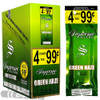 Supreme Cigarillos Foil Pack Green Haze 4 for $0.99 upright & foilpack