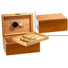 The Milano Cigar Humidor - Oak Box & Open Box