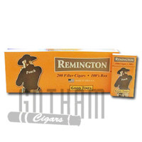 Remington Filtered Cigars Peach carton & pack