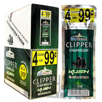 Clipper Cigarillos Foil Pack Kush upright