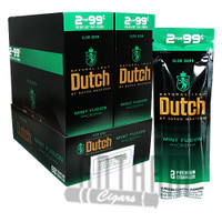 Dutch Masters Cigarillos Mint Fusion 2 for $0.99 upright & foilpack