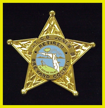 E106 FL RETIRED Deputy Sheriff Badge