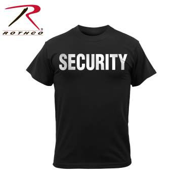 SECURITY T-Shirt REFLECTIVE Imprint Chest & Back