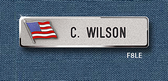 "Reeves Nametag F8LE 5/8"" x 2-11/16"" w/Flag"