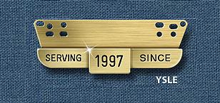 "Reeves YSLE SERVICE AWARD TAB 5/8"" x 2-11/16"""