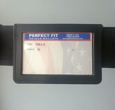 708-LS PERFECT FIT BELT ID HOLDER (attached to duty belt)