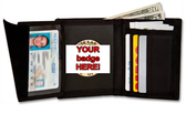 Deluxe Nylon Recessed Hidden Badge Wallet DK-N440
