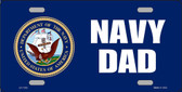 NAVY DAD Metal License Plate - 6x12