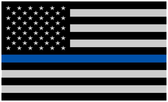 MINI size US Flag Blue Line Decal