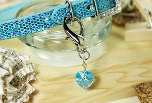 Swarovski Crystal Charm- Aqua Blue