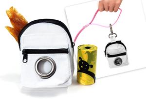 Pooch Picnic Pouch- White Picnic Bag