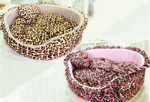 Plush Round Bed Leopard