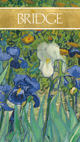 Bridge Score Pad Van Gogh Irises