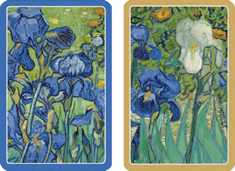 Playing Cards Van Gogh Irises - Large Type