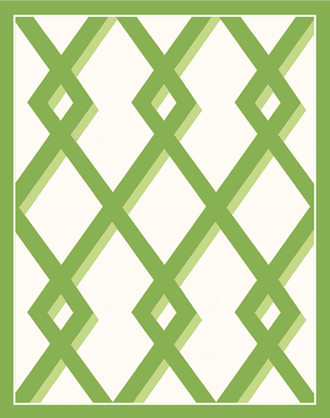 Bridge Tallies Trellis Green