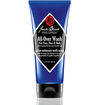 Jack Black All-Over Wash for Face, Hair & Body With Jojoba Protein & Panthenol 10 oz
