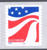 Scott # 4894-97 Plate # C12 Red, White and Blue forever PS9