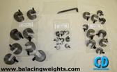 Steel Balancing C-Clamp Set; 28 pieces