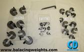 Steel Balancing C-Clamp Set; 28 pieces