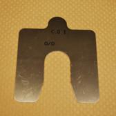 "Size D, .025"" thick, Stainless Steel Alignment Shim Pack"