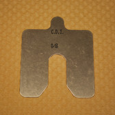 "Size B, .125"" thick, Stainless Steel Alignment Shim Pack"