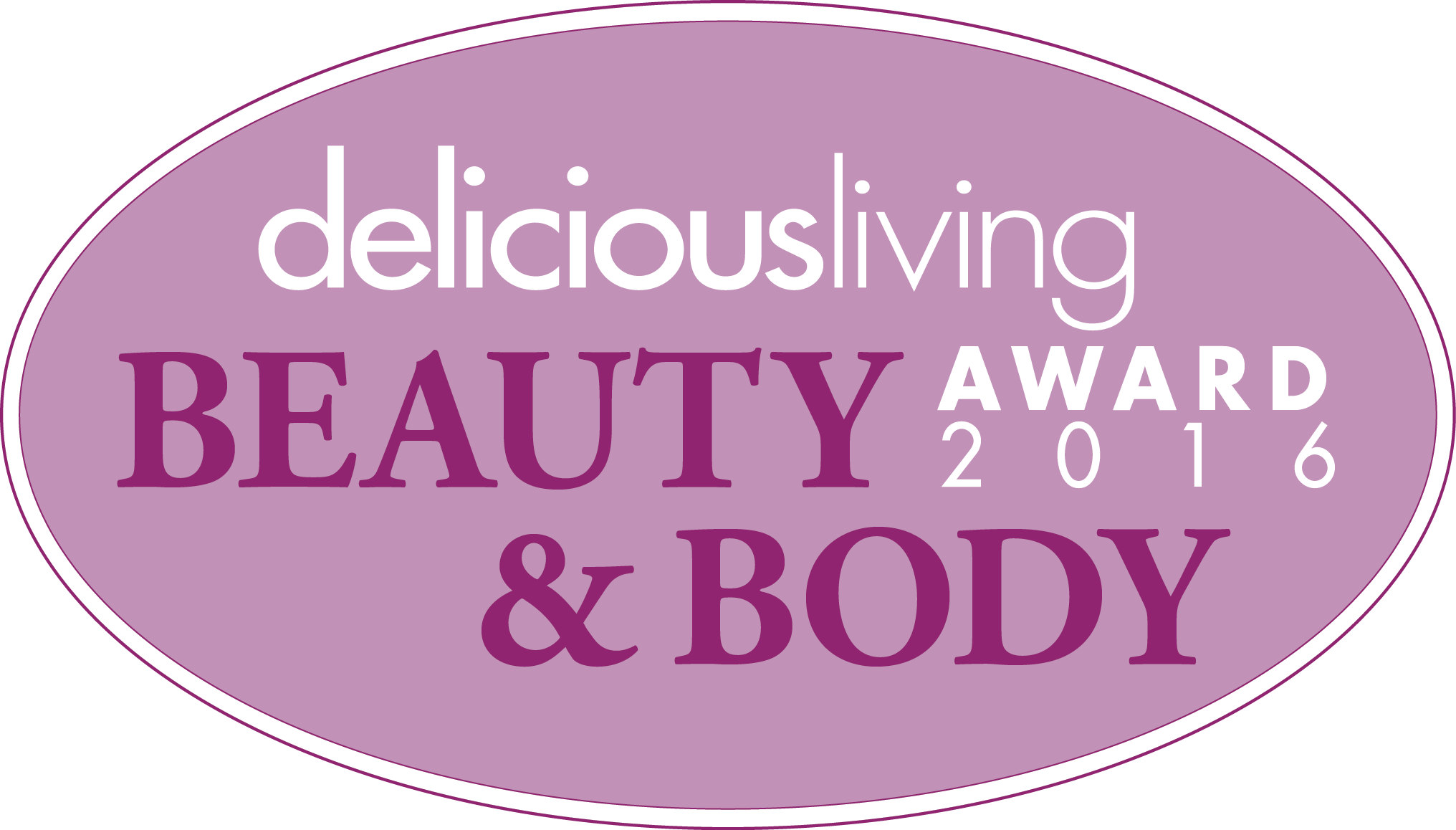 2016 deliciousliving Beauty and Body Award