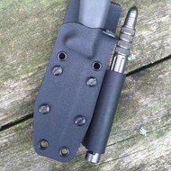 Front of sharpener holder attachment on custom kydex sheath for a Gatco Scepter 2.0