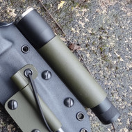 Flashlight holder attachment for custom Kydex sheath