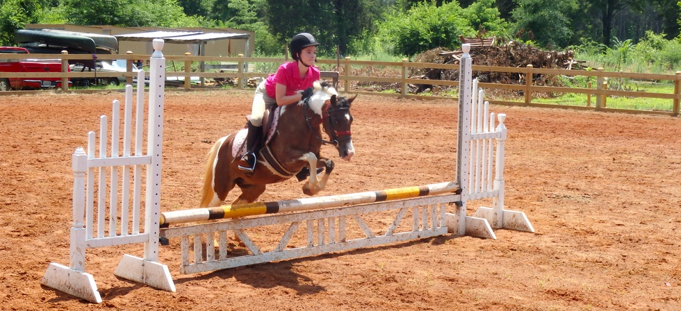 Horseback Rider at Pine Ridge Equestrian Center in North AL