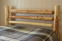 Split Rail Cedar Log Bed